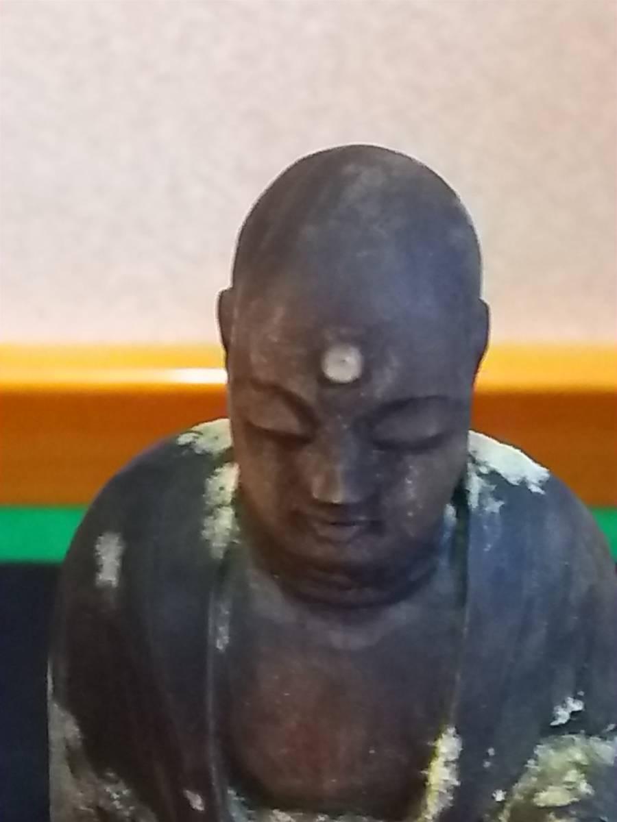 (鳥羽)仏教美術江戸期地蔵菩薩逗子付(額に玉石付)_画像4