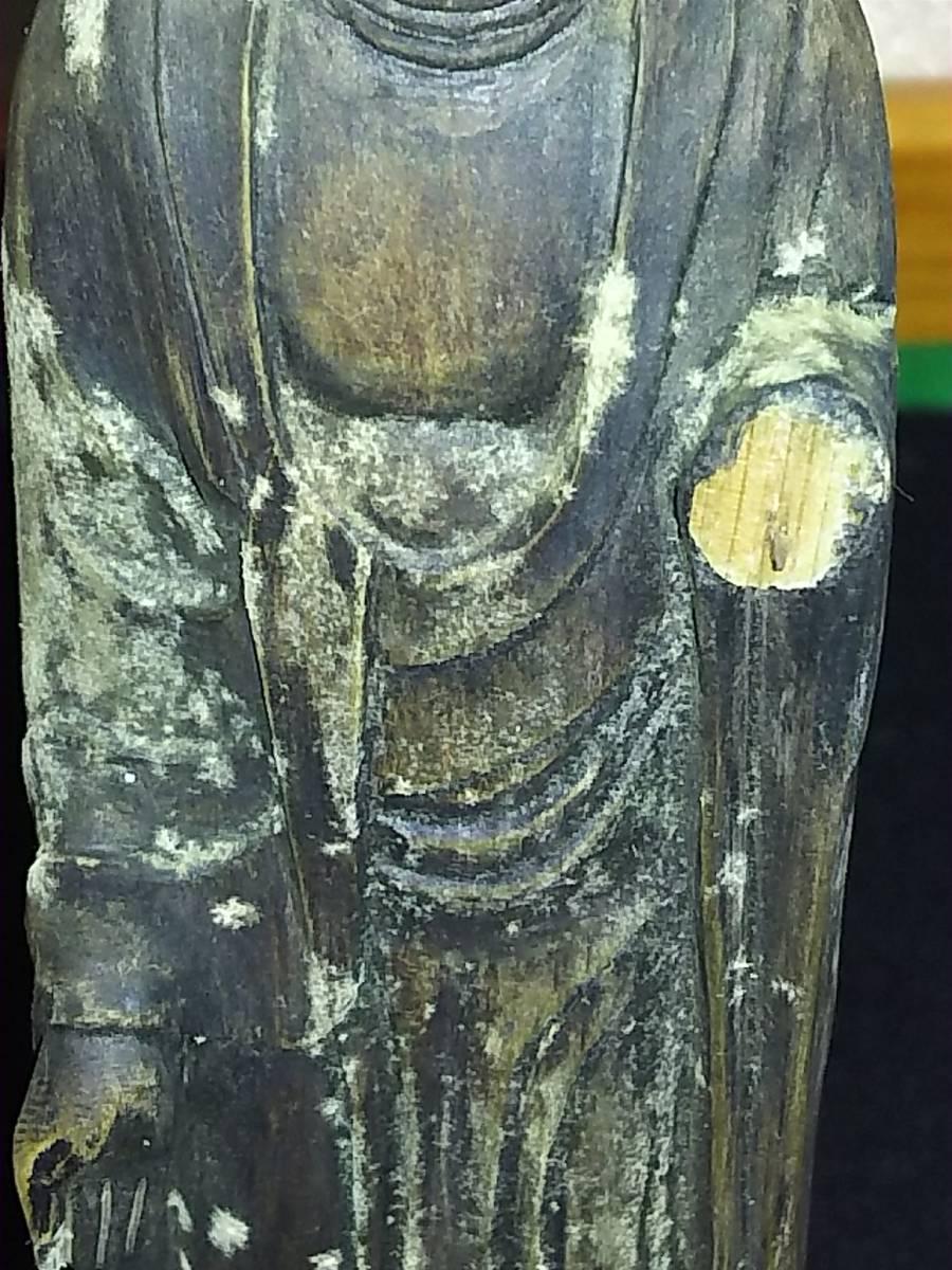 (鳥羽)仏教美術江戸期地蔵菩薩逗子付(額に玉石付)_画像5