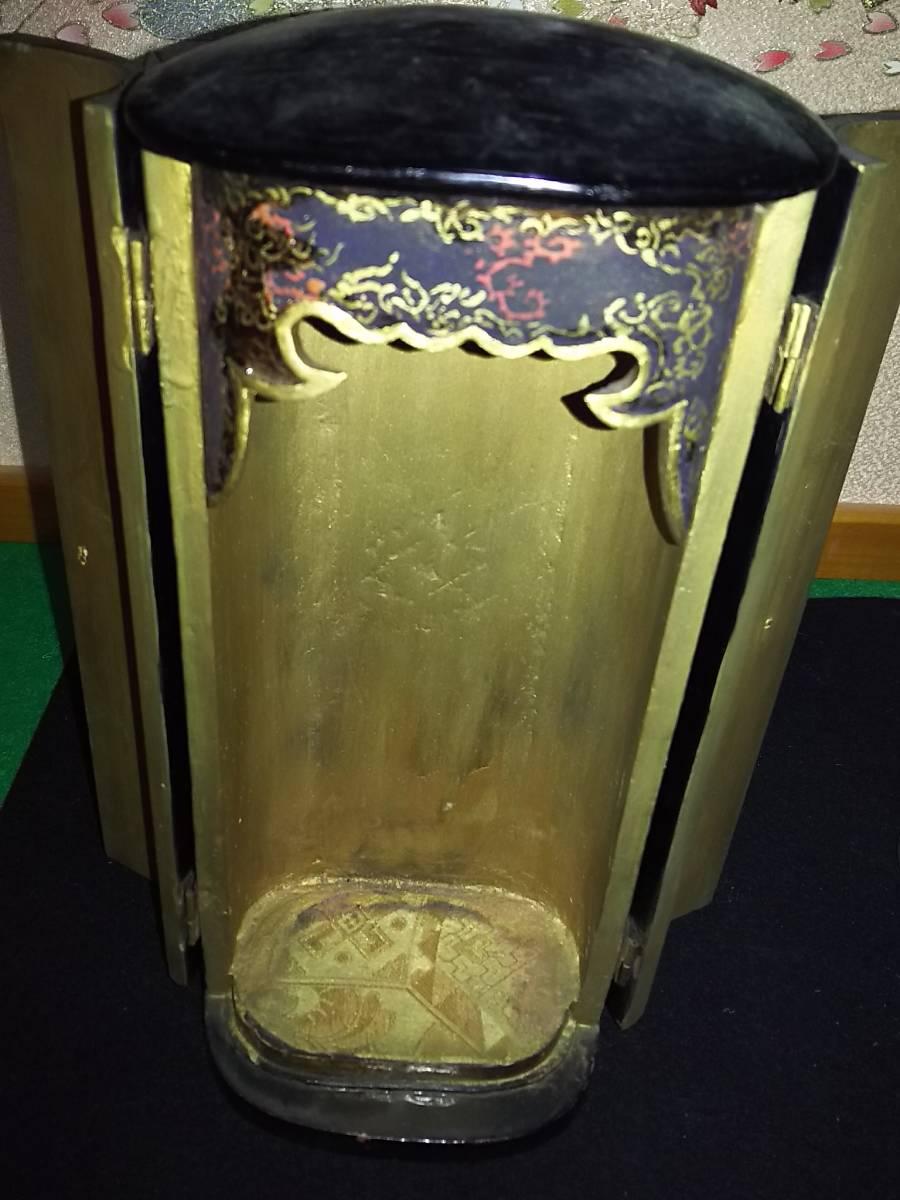 (鳥羽)仏教美術江戸期地蔵菩薩逗子付(額に玉石付)_画像7