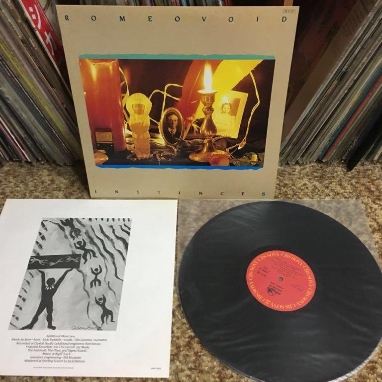 【 LPレコード】ロミオ・ヴォイド/インスティンクツ 再生確認済み 国内盤 LP_画像3