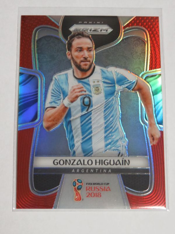 2018 Panini Prizm World Cup イグアイン /149 Red PARALLEL Gonzalo Higuain アルゼンチン代表 base FIFA Soccer Argentina