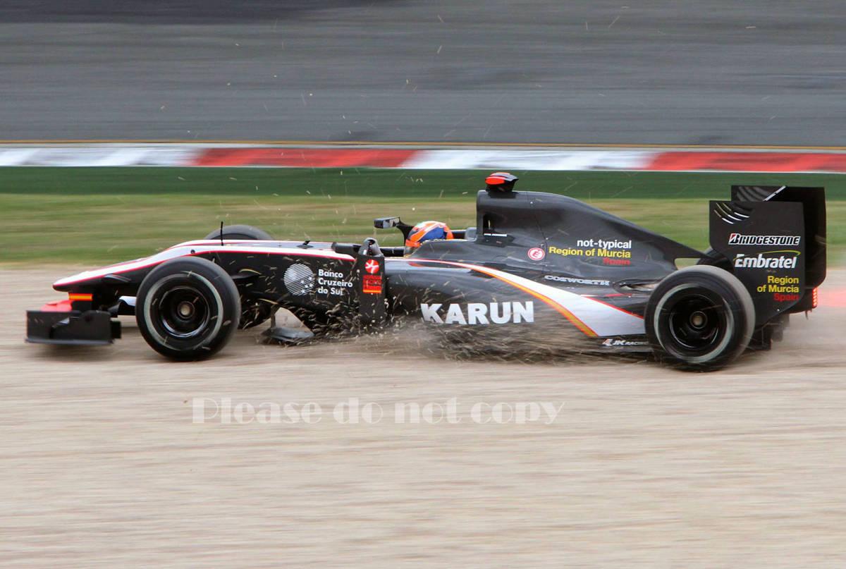 2010年 HRT F1 フォーミュラ1 ヒスパニアレーシング F110 カルン・チャンドック フォト 5枚付き ⑤_画像3