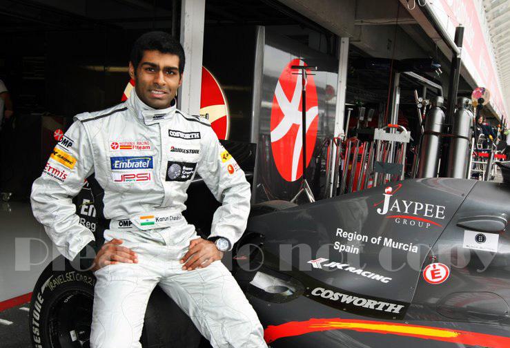 2010年 HRT F1 フォーミュラ1 ヒスパニアレーシング F110 カルン・チャンドック フォト 5枚付き ④_画像3