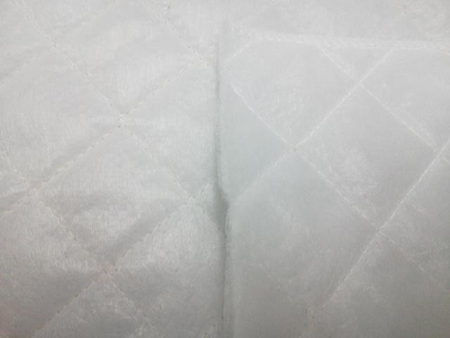 新 キルト芯●(Q-60)両面 不織布キルト 約107㎝幅:ズバリ1m/599円! ドミット芯 より柔らかい♪ 手芸用 中綿 副資材 教材 に♪ 布 生地 _画像2