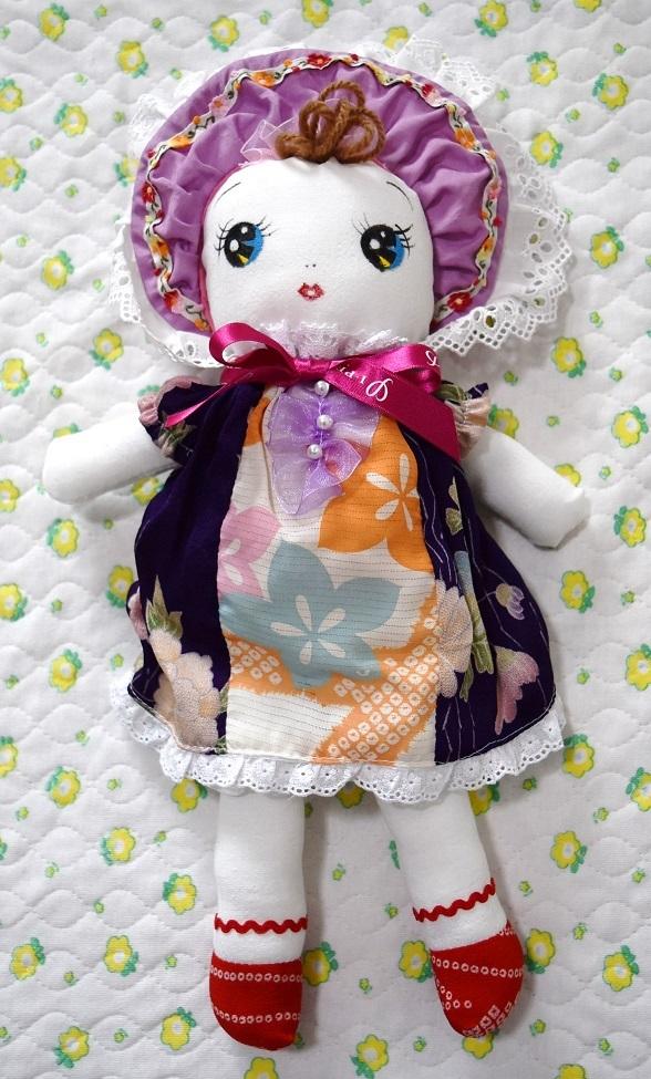 和☆着物リメイク 古布ハンドメイド 文化人形 レトロ人形 手造り 03_画像1