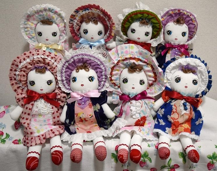 和☆着物リメイク 古布ハンドメイド 文化人形 レトロ人形 手造り 03_画像4