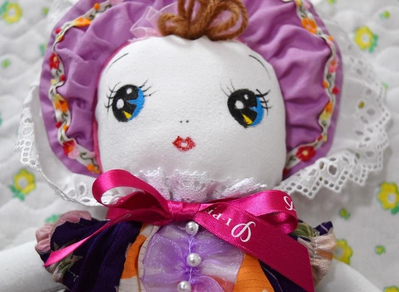 和☆着物リメイク 古布ハンドメイド 文化人形 レトロ人形 手造り 03_画像2