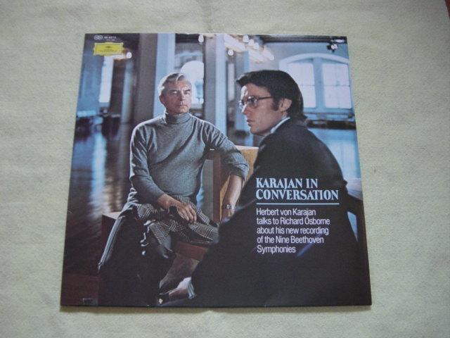 LP レコード カラヤン/ベートーヴェン交響曲全集八枚組 KARAJAN BEETHOVEN_カラヤン・インタヴュー30cmLP