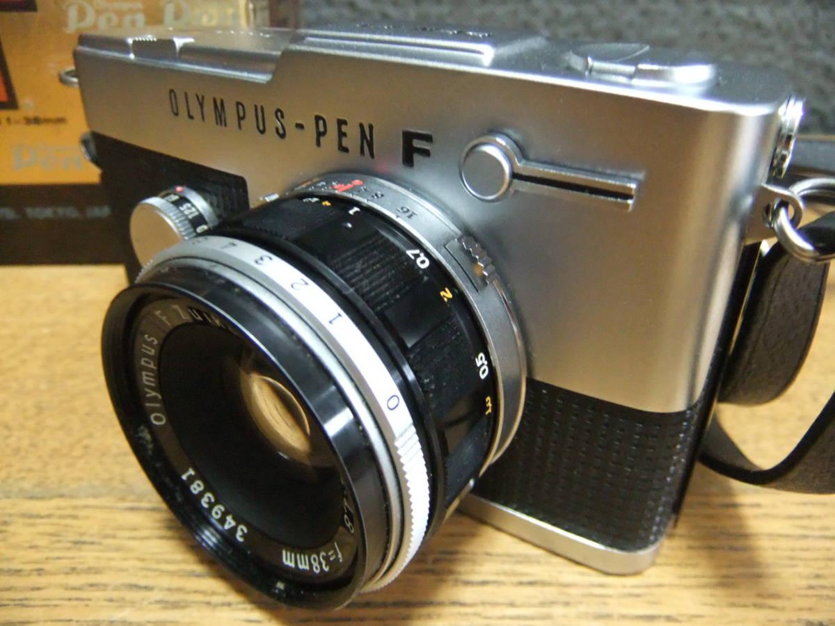 【外装極美】★OLYMPUS PEN-FT/F.Zuiko Auto-S 38mm F1.8(箱・ケース付き)★_画像4