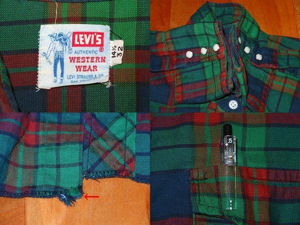 ■【60年代・サドルマン・LEVI'S】 シャツ①/ウエスタン ロングホーン ショートホーン 40s50s60s70s_画像7