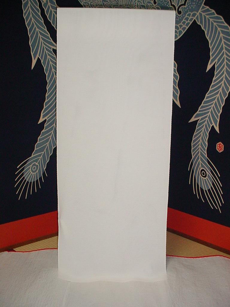 【特選!夏用襦袢 正絹 駒絽長襦袢 巾38cm 正絹100% 白地 新品 日本製】_画像1