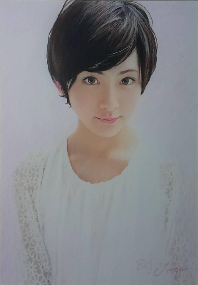 『作品283』S.Tomo氏直筆色鉛筆画 超美品 美人画 新品額装