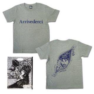 ジョジョの奇妙な冒険 ☆ ブチャラティ Tシャツ(Sサイズ、グレー)新品未開封 ビニールバッグ付き ★_画像1