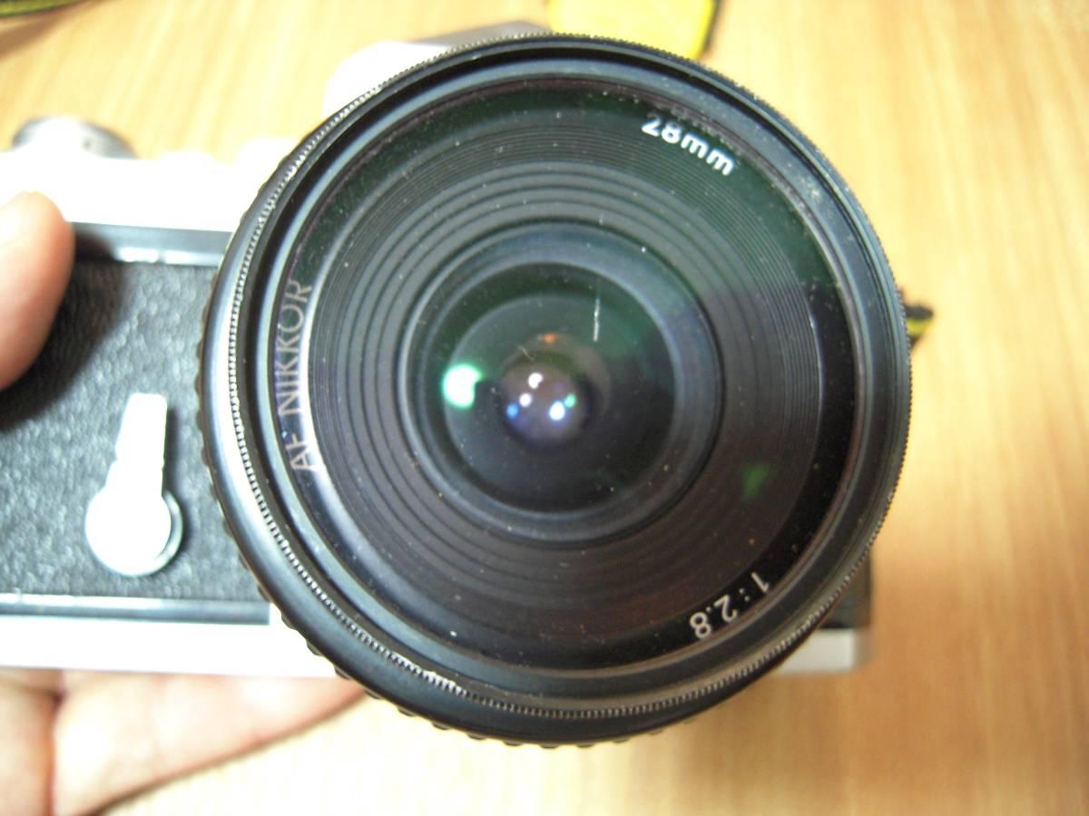 Nikon F 6491909, AF NIKKOR 28mm 1:2.8 レンズ_画像6