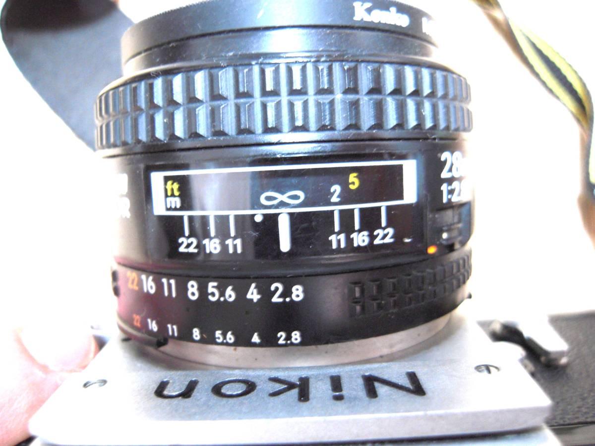 Nikon F 6491909, AF NIKKOR 28mm 1:2.8 レンズ_画像10