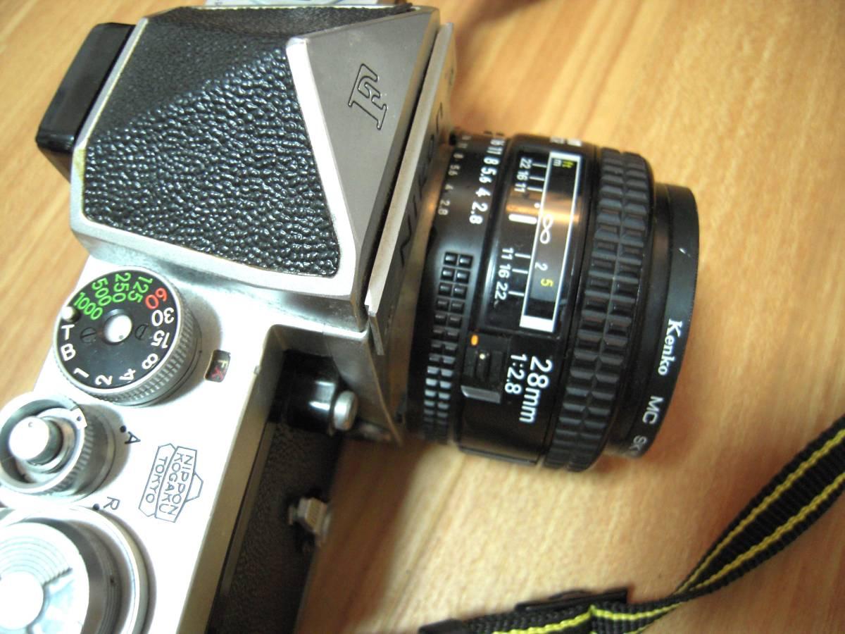 Nikon F 6491909, AF NIKKOR 28mm 1:2.8 レンズ_画像4