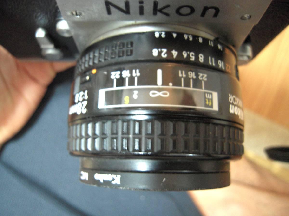Nikon F 6491909, AF NIKKOR 28mm 1:2.8 レンズ_画像7