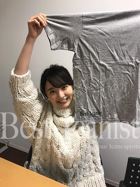 [チャリティ]おの ののかさんサイン入りBest Jeanist Tシャツ-1