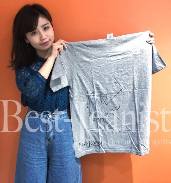 [チャリティ]小池美由さんサイン入りベストジーニストTシャツ-1