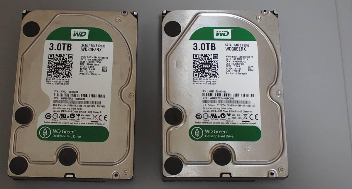 Western Digital WD30EZRX 3TB 中古品 2個セット e