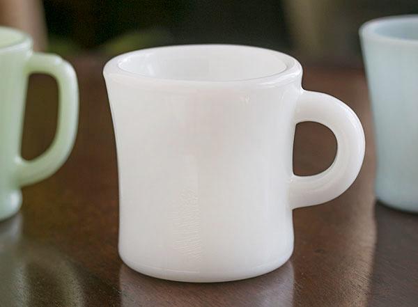 激レア! ファイヤーキング ホワイト エキストラヘビー マグ 耐熱 ミルクグラス オリジナル 什器 ディスプレイ キッチン 雑貨_画像1