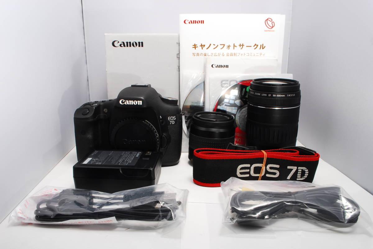 〓元箱 付属品完備 超望遠Wレンズ〓キヤノン EOS 7D