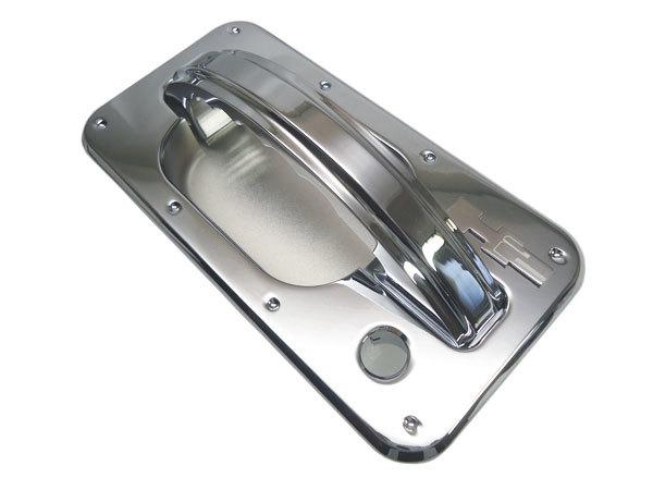 CODE9 HUMMER H2 ビレットクローム チョッパー ドアハンドル&ドアバケット ディンプル/スムース H2ロゴエンブレム付 【H2CB-260S/280D】_画像5