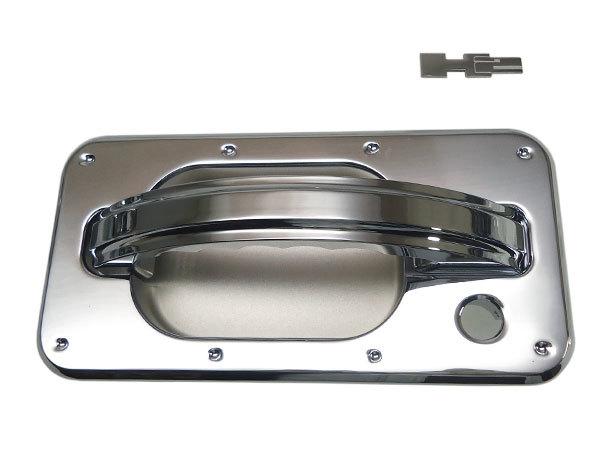 CODE9 HUMMER H2 ビレットクローム チョッパー ドアハンドル&ドアバケット ディンプル/スムース H2ロゴエンブレム付 【H2CB-260S/280D】_画像6
