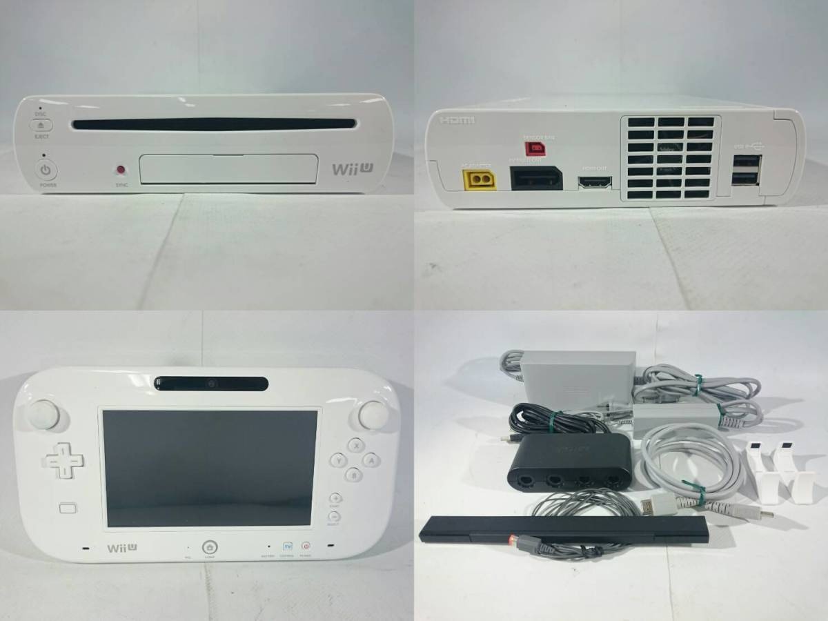 [36]Nintendo Wii U 本体 コントローラ おまけ付き_画像2