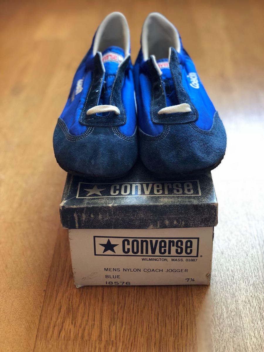 新品 デッドストック 箱付 Converse coach jogger 7.5 ビンテージ コンバース コーチ 70s usa_画像2