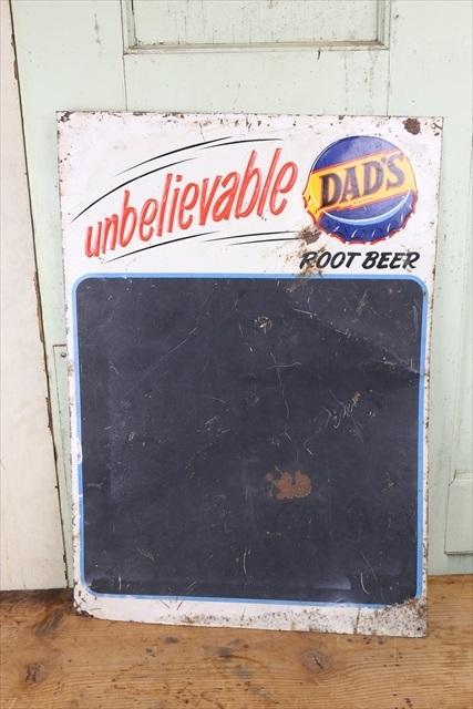 レア ビンテージ DAD'S Root Beer Menu Board Sign/チョークボード サイン 看板 ルートビア サイン アメリカ アンティーク 什器_画像5