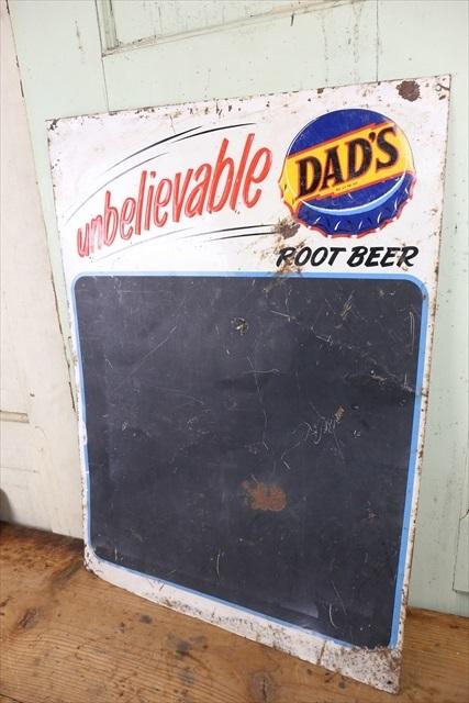 レア ビンテージ DAD'S Root Beer Menu Board Sign/チョークボード サイン 看板 ルートビア サイン アメリカ アンティーク 什器