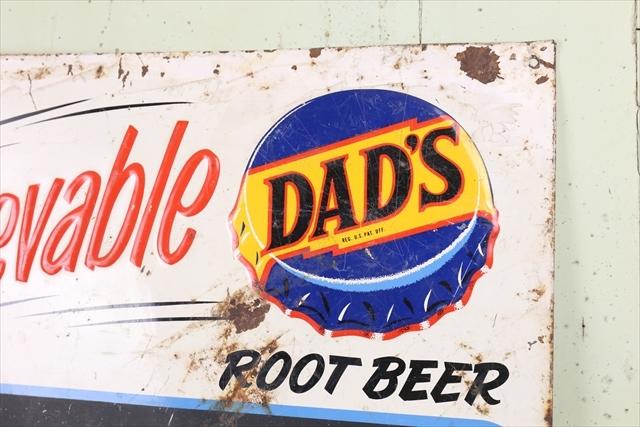 レア ビンテージ DAD'S Root Beer Menu Board Sign/チョークボード サイン 看板 ルートビア サイン アメリカ アンティーク 什器_画像2