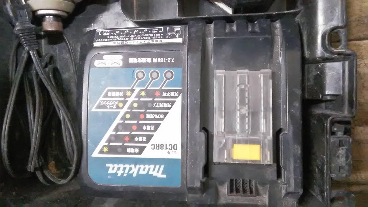 1円スタート!! Makita マキタ 充電式インパクトドライバ 充電器/バッテリー2個付き TD170D_画像3