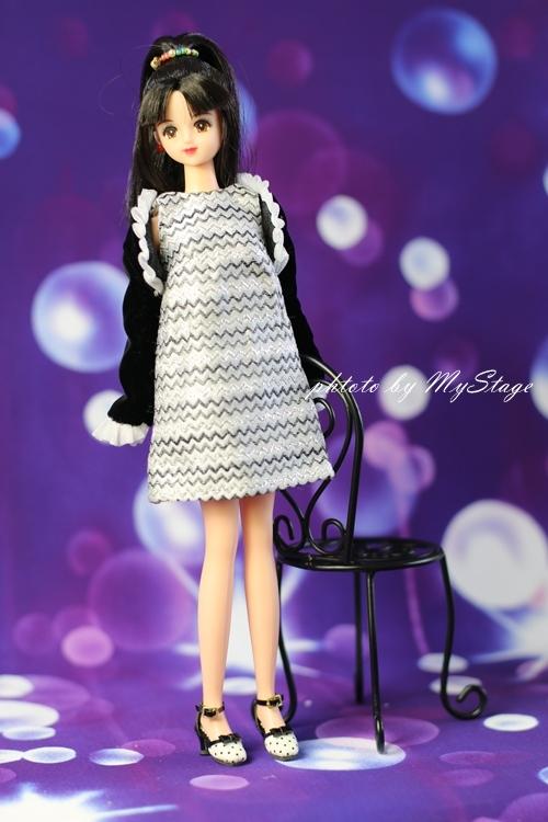 ldz-75-01(白+黒) momoko、ブライス、ジェニー、MISAKI、ピアニーモ用シューズ_画像4