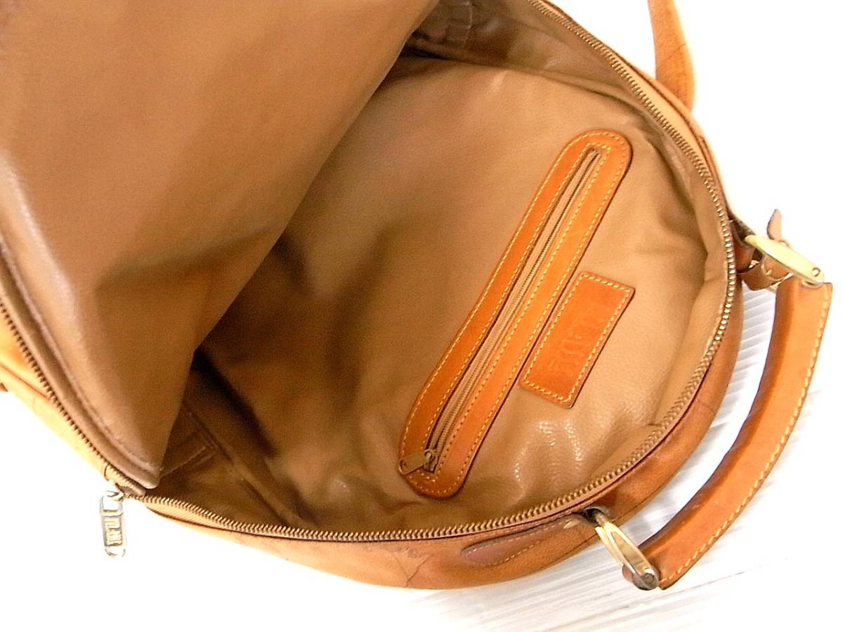 PRIMA CLASSE プリマクラッセ 本革使い レザー PVC リュック デイパック ショルダーバッグ ハンドバッグ 世界地図 日本地図 背負い鞄_画像4