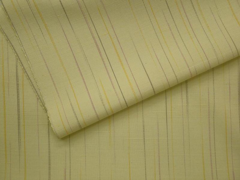 処分超特価:米沢みちのく紅花・紅彩乱縞・ねこやなぎ色・手縫い仕立付_画像3