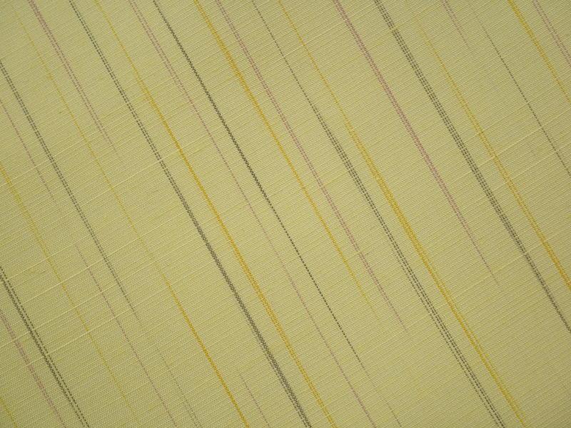 処分超特価:米沢みちのく紅花・紅彩乱縞・ねこやなぎ色・手縫い仕立付_画像4
