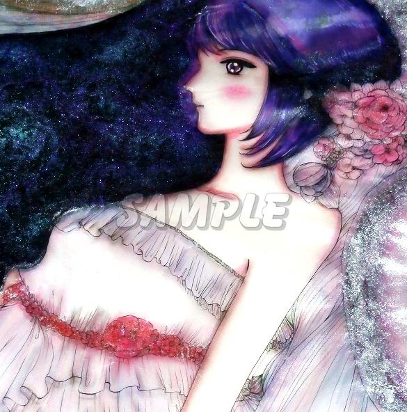 A3美女絵 BHbride 手描きオリジナルイラストアート絵CG Hand drawn originalart picture CG cute girl beauty_画像9