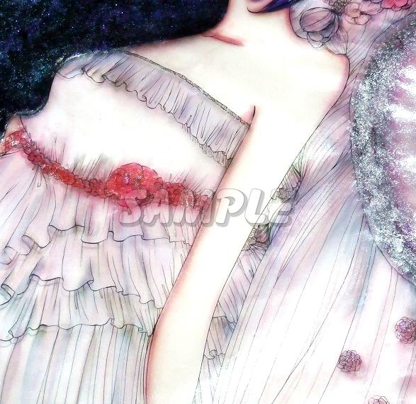 A3美女絵 BHbride 手描きオリジナルイラストアート絵CG Hand drawn originalart picture CG cute girl beauty_画像8
