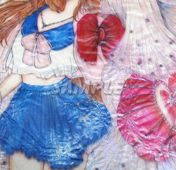 A3美女絵 JKbride 手描きオリジナルイラストアート絵CG Hand drawn originalart picture CG cute girl beauty_画像4