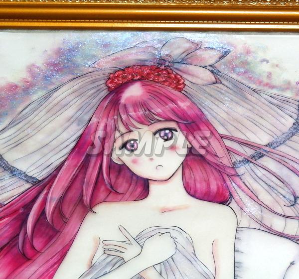 A3美女絵 bride 手描きオリジナルイラストアート絵CG Hand drawn originalart picture CG cute girl beauty_画像2
