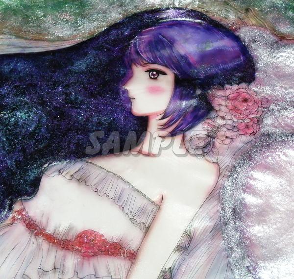 A3美女絵 BHbride 手描きオリジナルイラストアート絵CG Hand drawn originalart picture CG cute girl beauty_画像10