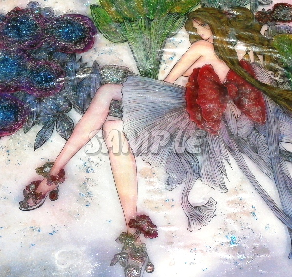 A3美女絵 vegetable 手描きオリジナルイラストアート絵CG Hand drawn originalart picture CG cute girl beauty_画像2