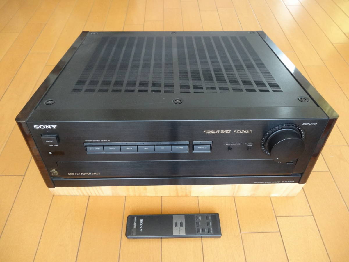 ソニー プリメインアンプ TA-F333ESA リモコン付き(通常動作確認、ジャンク)
