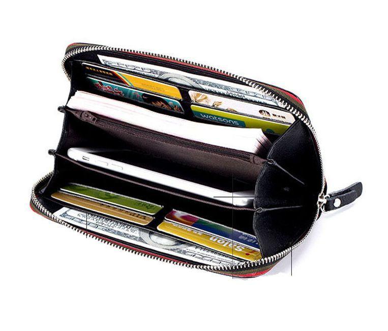 ■送料無料■新品★本革ジップアラウンドクラッチ長財布 ブラック黒5 【メンズレディース人気ブランド 福袋ギフト2019平成】_画像4