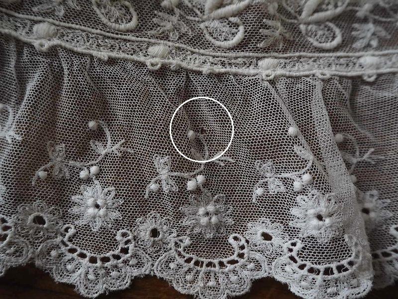 フランス アンティーク美しい白の刺繍 幅色2種チュールレース花カットワーク ドール ボネ ドレス リメイク ハンドメイド ボタニカル パネル_画像8