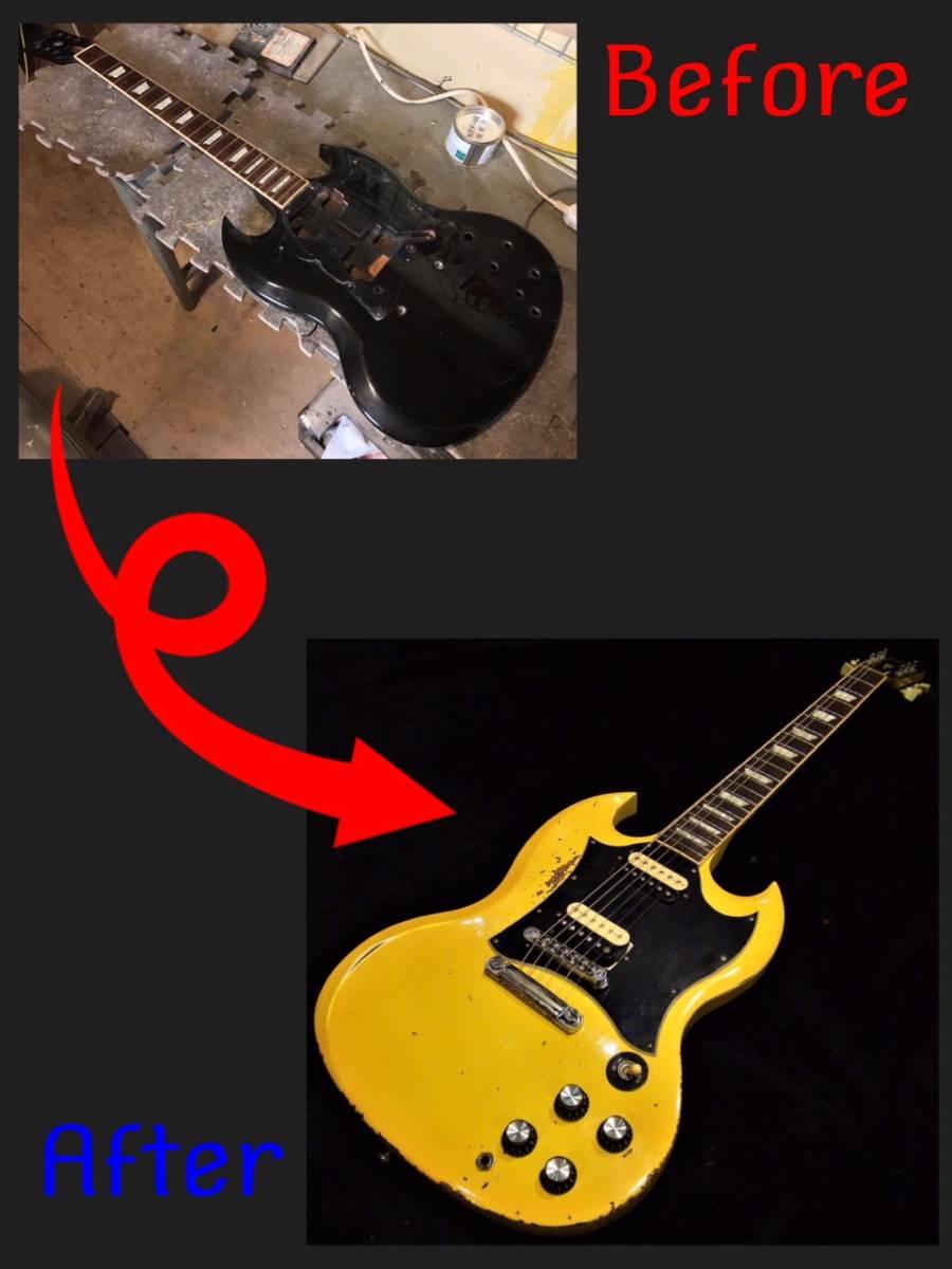 ■ エイジド・レリックオーダーフォーム セット/スルーネック・ギター Les Paul /SG etc... ■_画像4