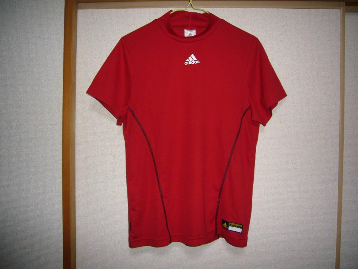 アディダス ベースボール半袖シャツ赤2XS_画像1