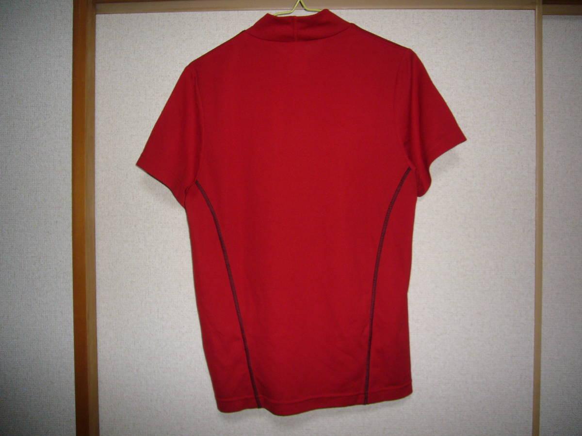 アディダス ベースボール半袖シャツ赤2XS_画像2